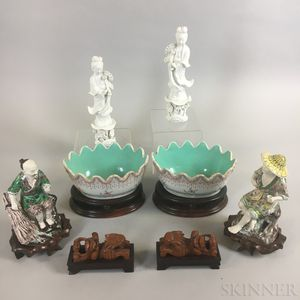 Six Modern Chinese Ceramic Dishes and Figures