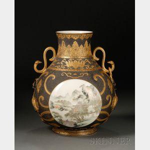 Sold for: $34,365 - Porcelain Vase