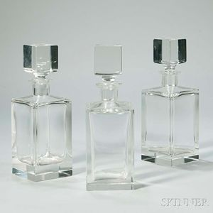 Set of Three Decanters