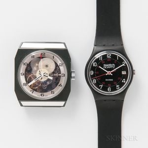 "Rare Tissot Experimental Watch or ""Astrolon"" Wristwatch and a First Generation Swatch"