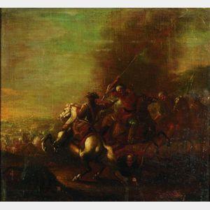 Continental School, 18th/19th Century    Napoleonic Era Battle Scene