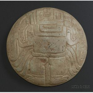 Pre-Columbian Carved Stone Plate