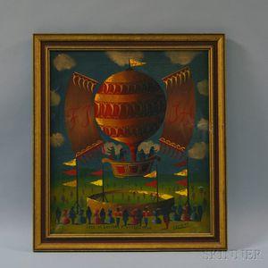 G. Lambert (French, 19th/20th Century)      Fête de ballons a Yvri-Sur-Seine