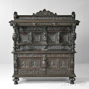 Renaissance Revival Oak Court Cupboard