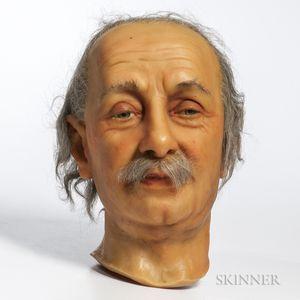 Einstein, Albert (1879-1955) Wax Head by Katherine Marie Stubergh-Keller (1911-1996) Signature attributed to Einstein.