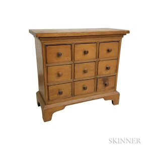 Country Pine Nine-drawer Spice Chest