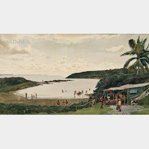 Edmond James Fitzgerald (American, 1912-1989)      Surf Beach, Hawaii