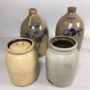 Four Stoneware Vessels