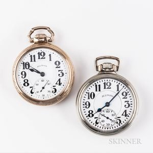 """Two Illinois Watch Co. """"Sixty Hour Bunn Special"""" Watches"""