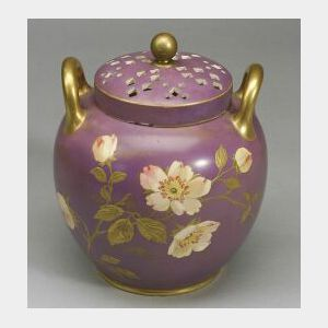 Wedgwood Earthenware Potpourri Vase and Cover