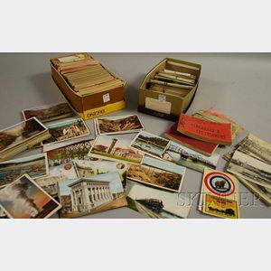 Collection of Early 20th Century European Postcards with a Group of Mostly U.S.   Postcards