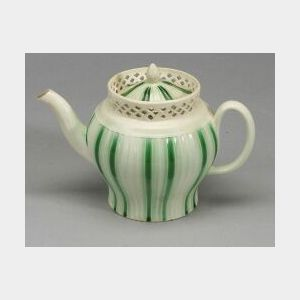 Staffordshire Lead Glazed Teapot and Cover