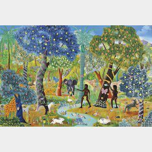 E.A. Othello (Haitian, 20th Century)      Garden of Eden
