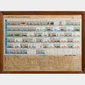 Japanese Ship Identification Print