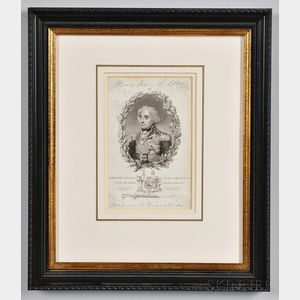 Engraved Portrait of Admiral Lord Nelson