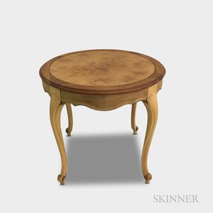 French Provincial-style Carved Fruitwood Occasional Table
