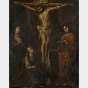 Spanish School, 19th Century      The Crucifixion