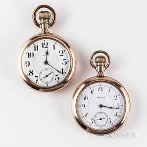 Two E. Howard Open-face Watches