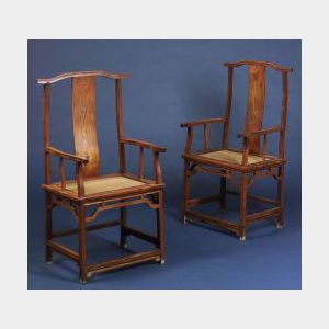 Sold for: $99,500 - Pair of Official's Hat Chairs