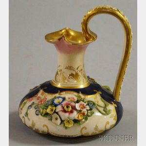Small Royal Crown Derby Gilt-decorated Ceramic Pitcher