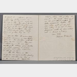 Benton, Thomas Hart (politician) (1782-1858) Autograph Letter Signed, 11 December 1827. Single wove paper bifolium, watermarked Amies,