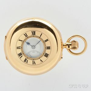 J.W. Benson 18kt Gold Demi-case Watch