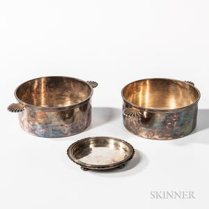 Three Pieces of Silver-plated Tableware