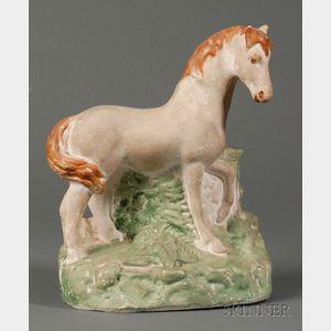 Painted Chalkware Horse Figure