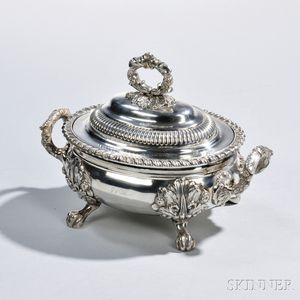 George III Sterling Silver Sauce Tureen and Cover