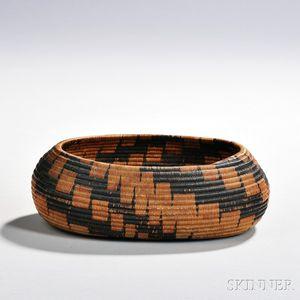 Pomo Coiled Basketry Bowl