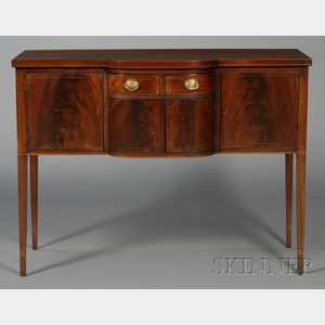 Small Federal Inlaid Mahogany Sideboard