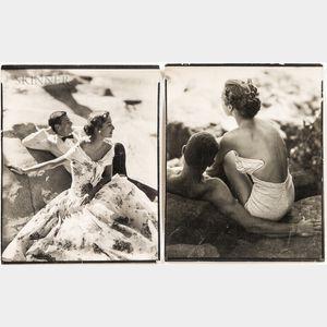American School, 20th Century      Two Casting/Model Photographs of Randolph Jack