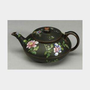 Wedgwood Black Basalt Teapot and Cover