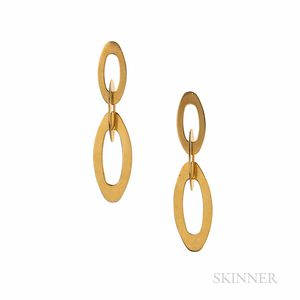 "Roberto Coin 18kt Gold ""Chic and Shine Petite Link"" Earrings"
