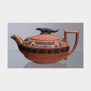 Wedgwood Rosso Antico Egyptian Teapot and Cover