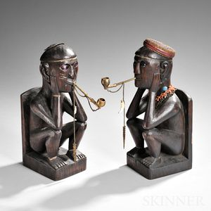 Two Philippine Carved Wood Figures