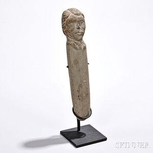 Carved Sandstone Figure