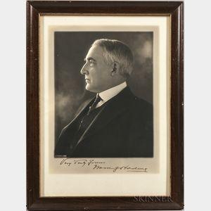 Harding, Warren G. (1865-1923) Signed Photograph.