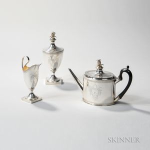 Federal Three-piece Silver Tea Set