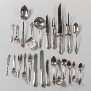 "Durgin ""Chatham"" Pattern Sterling Silver Flatware Service"