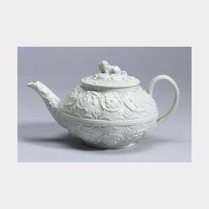 Wedgwood White Smear Glazed Stoneware Teapot and Cover