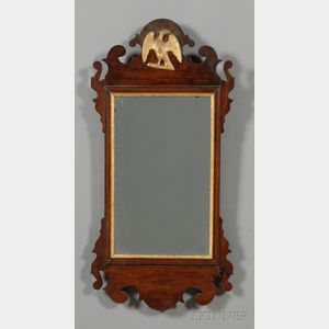 Federal Mahogany and Gilt-gesso Mirror