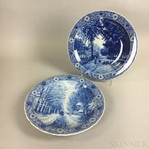 Two Modern Delft Ceramic Chargers
