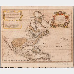 North America. Guillaume Delisle (1675-1726) LAmerique Septentrionale Dressee sur les Observations de Mrs. de lAcademie Royale des Sc