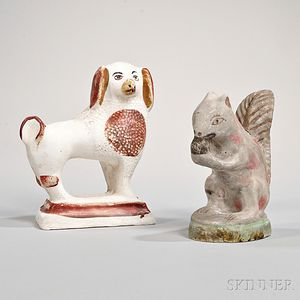 Two Painted Chalkware Figures