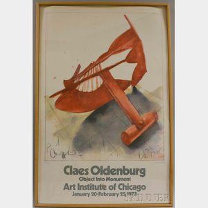 Claes Oldenburg (American,  b. 1929)      Claes Oldenburg Object into Monument, Art Institute of Chicago...