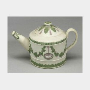Wedgwood Three Color Jasper Teapot and Cover