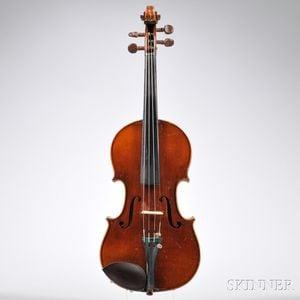 French One-half Size Mirecourt Violin