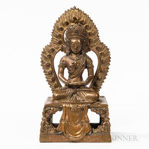 Bronze Figure of Bodhisattva