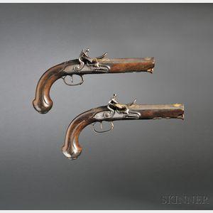 Pair of English Flintlock Pistols